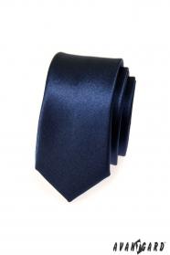 Schmale Krawatte SLIM blau