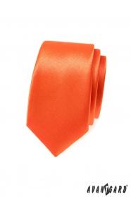 Orange schmale Krawatte