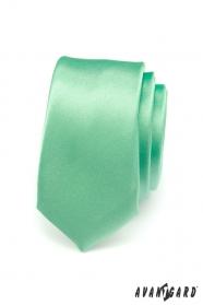 Grüne Krawatte SLIM glatt
