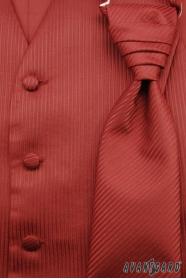 Hochzeitsweste mit Krawatte weinrot strukturiert
