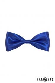 Glänzende blaue Herren Fliege
