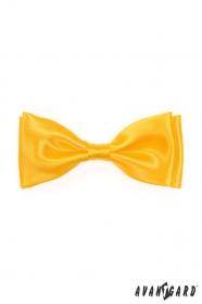 Fliege für Herren Glanz gelb