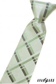 Jungen Kinder Krawatte mit grünen Streifen
