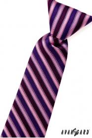Jungen Kinder Krawatte rosa blau und lila Streifen