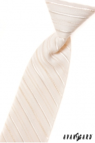 Jungen Kinder Krawatte creme mit Linie