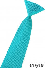 Junge Krawatte Türkis Quadraten