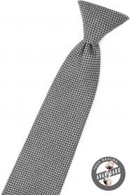 Schwarze Junge Krawatte mit grauem Muster