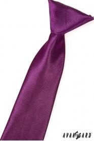 Jungen Kinder Krawatte Aubergine Glanz
