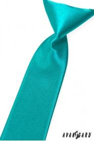 Türkisblaue junge Krawatte