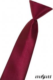 Jungen Kinder Krawatte weinrot glanz