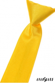 Jungen Kinder Krawatte gelb glatt