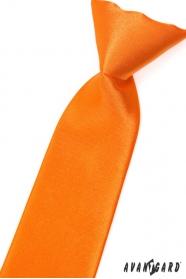 Orange Krawatte für Jungs