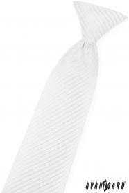 Weiße junge Krawatte mit glänzenden Streifen