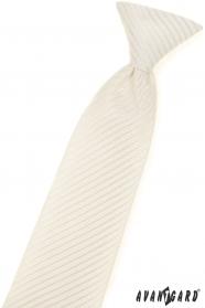 Gemusterte cremefarbene Jungen Krawatte