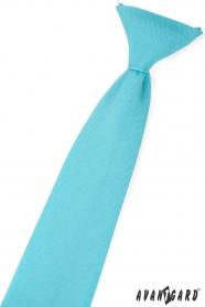Jungen Kinder Krawatte Türkis matt