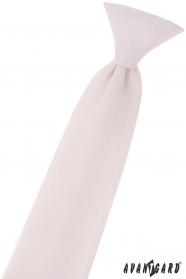 Junge puderrosa Krawatte