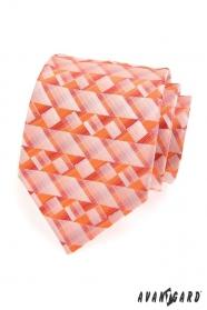 Krawatte orange geometrische Formen