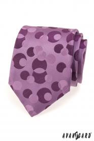 Lila Krawatte mit Blasen