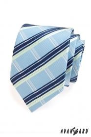 Herren Krawatte blau-weiße Streifen