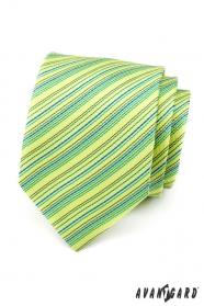 Hellgrüne gestreifte Krawatte
