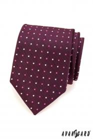 Krawatte Lila getupft