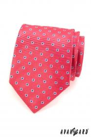 Rosa Krawatte rosa blau weiße Quadrate