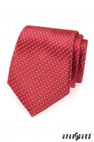 Rote strukturierte Krawatte