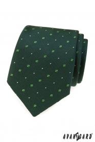 Grüne Krawatte mit Muster