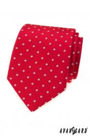 Rote Krawatte mit Muster