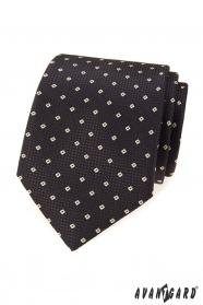 Braune Krawatte mit Muster