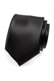 Matte schwarze Krawatte für Herren