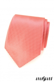 Lachs Herren-Krawatte mit Gittermuster