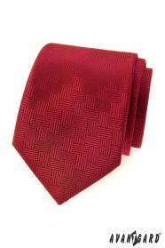 Rote Herren Krawatte mit gestrichelter Struktur
