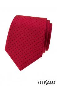 Rote Krawatte kleine schwarze Rechtecke