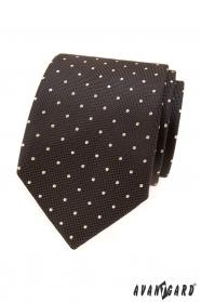 Braune Krawatte mit hellen Punkten