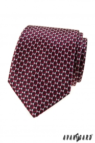 Weinrote Krawatte mit dreieckigem Muster