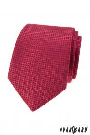 Rote Krawatte mit kleinen blauen Punkten