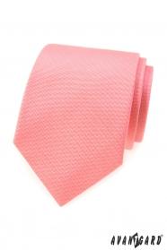 Strukturierte Krawatte in Lachsfarbe