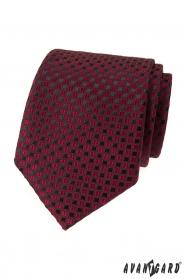Burgunder Krawatte mit schwarzem Muster