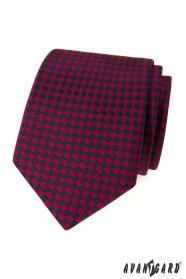 Herren Krawatte burgunderblaue Quadrate