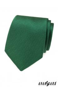 Grüne Herren-Krawatte mit Struktur