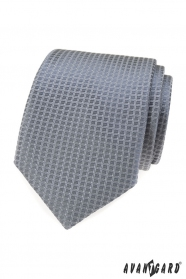 Graue Krawatte mit Struktur