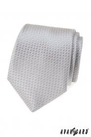 Graue Krawatte mit Steppmuster