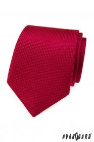 Rote Krawatte mit Steppmuster