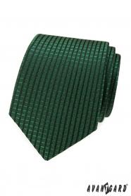 Grüne Krawatte mit Schachbrettmuster