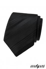 Schwarze Krawatte mit verschiedenen Streifen