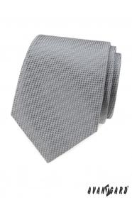 Graue Krawatte mit geflochtenem Muster