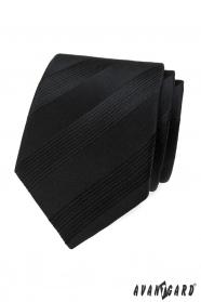 Schwarze Herren-Krawatte mit Streifen