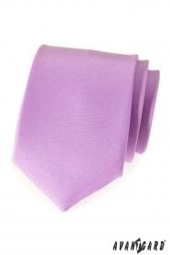 Herrenkrawatte fein violette mattiert