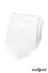 Weiße, matte Krawatte